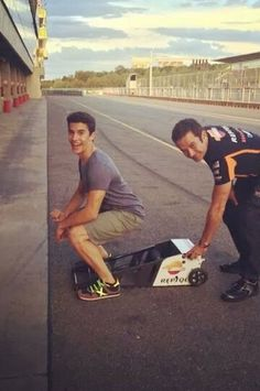 Marc Marquez getting warmed up hahaha what a lad