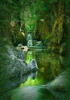 The Fairy Glen, Conwy River near Betws-y-Coed, North Wales