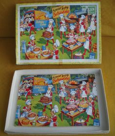 Vintage Jigsaw Puzzle - The Pixies Bakery - Victory - Made in England - Cakes