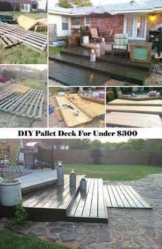 Enjoy Cozy Outdoor Life, You can Build a Pallet Deck Just for Under $300(with tutorial link)Top 19 Simple and Low-budget Ideas For Building a Floating Deck