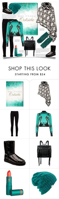 """Baby, It's Cold Outside"" by helenaymangual ❤ liked on Polyvore featuring Oliver Gal Artist Co., Portolano, Gucci, River Island, UGG, McQ by Alexander McQueen, Lipstick Queen, Coal and Lands' End"