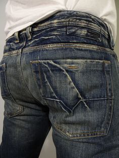 DIESEL Industry Men Jeans Zathan Wash 0089J Low Rise Boot Cut 32 x 33 #DIESEL #BootCut