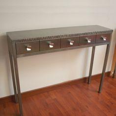 Console métal design Console rangement  www.loftboutik.com