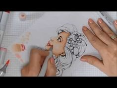 ▶ Copic Tutorial Coloring Skin Tones with Vicki McCarthy - YouTube
