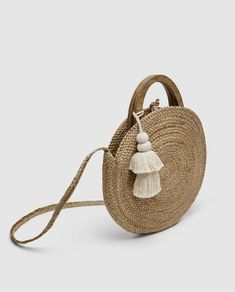 ROUND RAFFIA BASKET BAG-NEW IN-TRF | ZARA United States