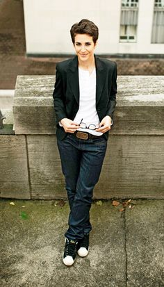 Rachel Maddow - my crush: from her brain to her looks she's pure perfection to me.