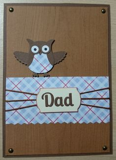Hey, I found this really awesome Etsy listing at https://www.etsy.com/listing/188732136/stampin-up-cute-handmade-owl-dad-card