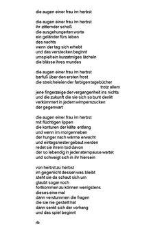 älterer Text über eine alte Freundin aus Bottrop