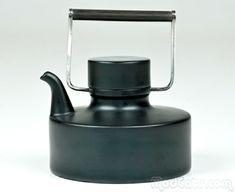 Taipo Wirkkala Porcelain Noire Teapot for Rosenthal.