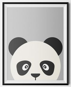 Panda Print Panda Nursery Decor Animal Art by KiwiInTheClouds