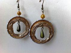 Boucles d'oreilles capsules Nespresso dorées