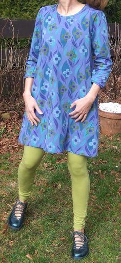 Michelle dress with kiwi leggings Gudrun Sjödén