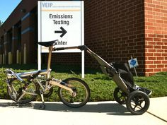 Emissions testing Burley Trailer, Burley Travoy, Cycling, Bicycle, Action, Design, Biking, Bike, Group Action