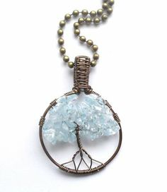 Necklace with mini tree of life pendant.