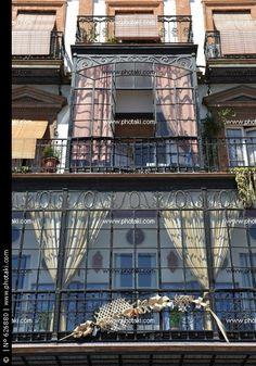 Balcó amb galeria de vidre, Triana, Sevilla