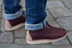 Poste x Clarks 'Burgundy' Desert Boot Desert Trek Belvedere Shoes, Clarks Originals Desert Boot, Desert Boots, Mens Fashion Shoes, Gentleman Style, Gq, Dress Shoes, Men's Shoes, Casual Shoes