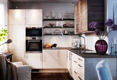 Tiny apartment kitchen ideas apartment kitchen ideas contemporary kitchen cabinets in a small kitchen small apartment . Small Apartment Kitchen, Small Space Kitchen, Open Concept Kitchen, Small Kitchens, Apartment Living, Budget Kitchen Remodel, Kitchen On A Budget, Studio Kitchen, Kitchen Decor