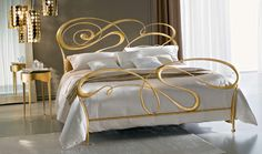 Ciacci Fly metal Bed Italian Gold leaf amazingbed | Robinsons Beds