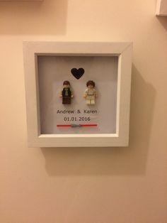 Personalised Star Wars Lego wedding gift por MalenaRose1 en Etsy