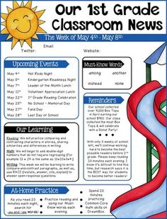 Editable Class Newsletter Template Cute And Simple Might Change - Simple newsletter template