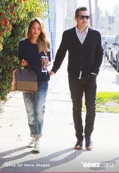 Jessica Alba with her husband Cash