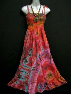 Reinvent last years maxi into a tie-dye creation!!! Love it!