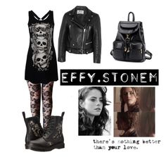 """""""Effy Stonem's style"""" by julia6985 ❤ liked on Polyvore featuring Acne Studios, Dr. Martens, BeiBaoBao, Effy Jewelry, rock, grunge, skins, effy and stonem"""