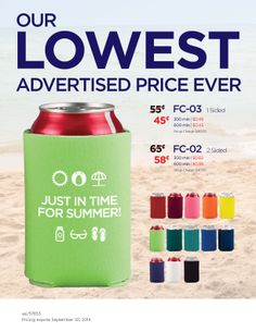 CAN COOLERS. Order at Ideas@Solutionist.biz - Mention Pinterest special and receive additional savings.