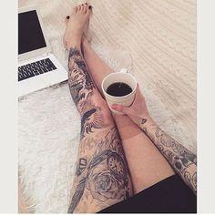 full leg tattoo