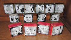 Personalized Gift Photo Letter Blocks GG by WasteNotRecycledArt, $7.50