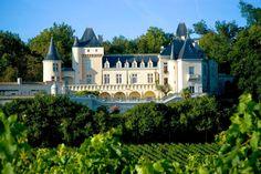 Château de la Rivière in the Fronsac district of Bordeaux \\ France