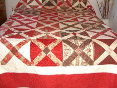 Patchwork Quilt Hot X Bun Quilt by Koolquilting on Etsy
