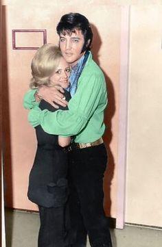 Elvis with fan 1969