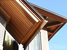 A natural alternative to aluminum and plastic, home-owners turn to Iron Woods Soffit, Paneling, Ceiling, Trim Roof Soffits, Cedar Shake Siding, Soffit Ideas, Spiderman Pictures, Ceiling Trim, Wood Trim, Wood Accents, Blue Ridge, Exterior Paint