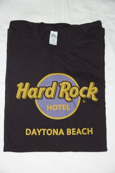 Hard Rock T-shirt Daytona Beach Hotel Black XL SS Graphic Tee Cotton #HardRockHotel #GraphicTee