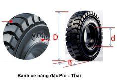 Vỏ xe nâng đặc hiệu Pio, sản xuất tại Thái Lan. Model: 500-8 chuyên dùng cho xe…