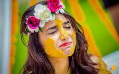 Bridal shower is an auspicious ceremony that takes place in Indian as part of Wedding rituals. India it is referred as Haldi Ceremony and Turmeric ceremony in different states of India. Goa Wedding, Wedding Pics, Wedding Shoot, Wedding Bride, Wedding Ideas, Trendy Wedding, Wedding Blog, Wedding Events, Haldi Ceremony