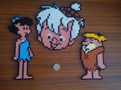 The Rubbles - The Flintstones hama perler beads by Sonia Angie
