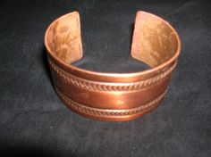 Copper Bracelet  1 5/8 inches wide   Etched Copper by elitefinds, $9.00