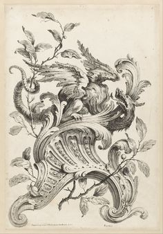 Alexis_Peyrotte_-_Winged_Griffon_on_a_Rocaille_Bracket,_from_Premiere_Partie_Diverse_Ornements_-_Google_Art_Project.jpg (2234×3201)