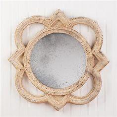 Aged Quatrefoil Mirror