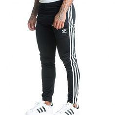 "Men/'s Black Adidas Sweat Pants Size 38/"""