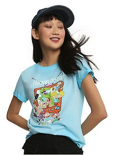 """We double-dare you not to fall in love with this 90's-tastic retro <i>Nickelodeon</i> T-shirt. From <i>Rugrats</i> to <i>Ren & Stimpy</i>, your childhood cable faves are all here in a signature orange television graphic. Tee features cuffed sleeves.<br><div><ul><li style=""""list-style-position: inside !important; list-style-type: disc !important"""">60% cotton; 40% polyester</li><li style=""""list-style-position: inside !important; list-style-type: disc !important"""">Wash cold; dry low</li><li style="""""""
