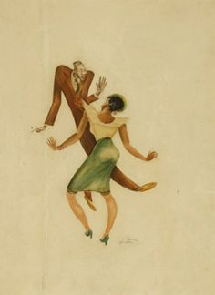Lindy Hop at the Savoy, Late 1930s by Charles Alston