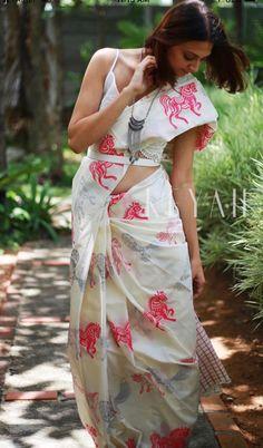 White Costumes, Vidya Balan, Saree Styles, Saris, Saree Wedding, Indian Sarees, Indian Wear, Stitching, Essentials