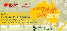 Tem vontade de estudar na Austrália e Nova Zelândia? Neste sábado vai acontecer uma feira de intercambio para estudar nestes países, confira: http://www.ctrlzeta.com.br/intercambio-autralian-center-expo-2015/