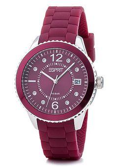 Brands4Friends Esprit Armbanduhr Rot Silber