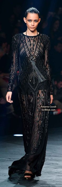 The Best Gowns of Fall 2014 Fashion Week International: Roberto Cavalli FW 2014 #MilanFashionWeek