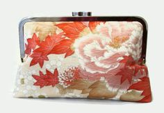 Silk Wedding Clutch Purse With Cherry Blossom by SimplySilkScarves