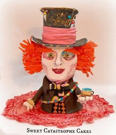 Had Hatter in modelling chocolate  Cake by Sweet Catastrophe Cakes